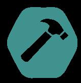 DX Bouwsleutel Zamac blauw