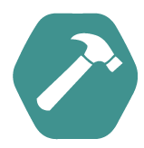 Universal Glijlager Scharnier DIN=R 89 x 89 mm Verzinkt