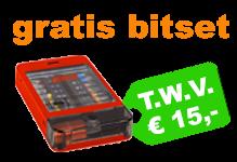 Gratis 4Tecx bitset bij besteding vanaf € 75,-
