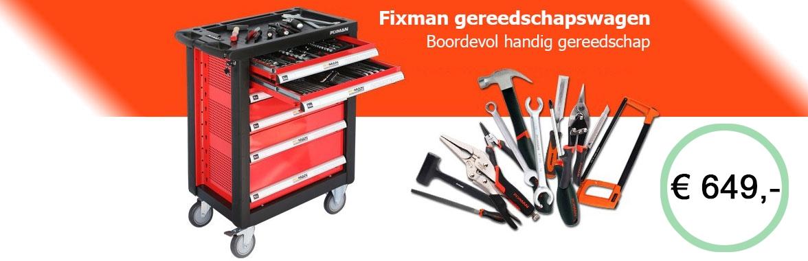 Fixman gevulde gereedschapswagen met 149 delige gereedschapsset