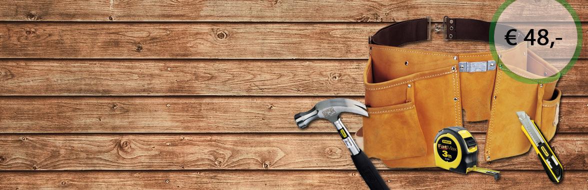 Stanley Gereedschapsgordel met hamer, rolmaat en afbreekmes